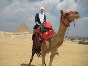 Me on a camel in Giza